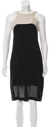 L'Agence Linen Midi Dress w/ Tags