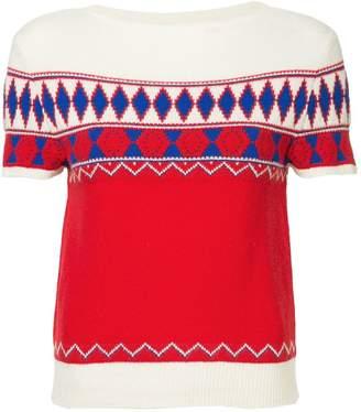 Maison Margiela patterned short sleeve sweater