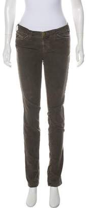 Current/Elliott Low-Rise Straight-Leg Pants