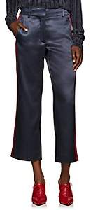 Sies Marjan Women's Bexley Satin Crop Pants - Graphite