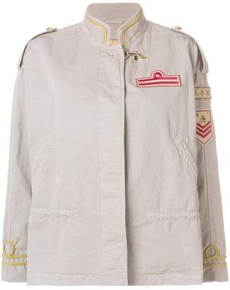 Fay appliqué badge military jacket