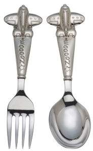 Reed & Barton Zoom Zoom Baby Fork & Spoon Set