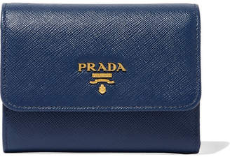 Prada Textured-leather Wallet - Navy