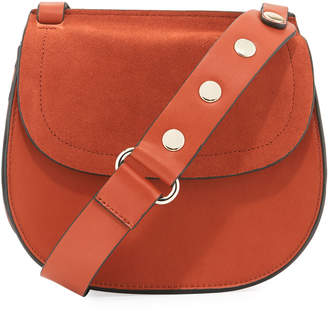 French Connection Celia Studded Mixed Saddle Bag