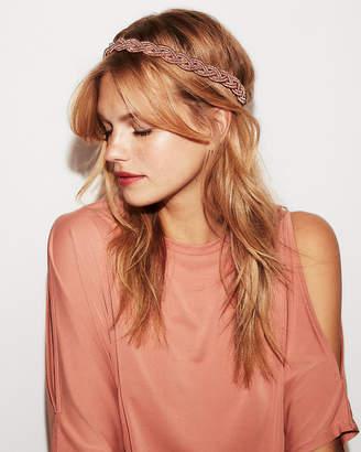 Express Natasha Braided Metallic Headband