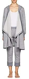 Castle & Hammock Women's Mélange Cotton Hooded Sweater-Blue