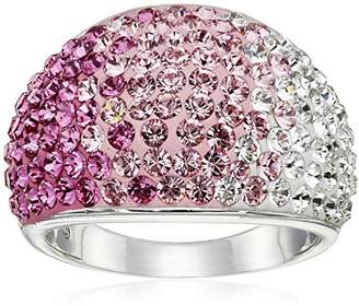 Swarovski Sterling Silver Faded Dome Elements Ring