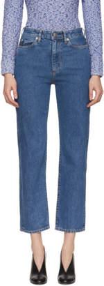 Simon Miller Blue Washed High-Rise Jeans