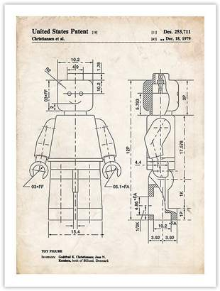 Lego Steves Poster Store MINIFIGURE POSTER 1979 Patent Art Print