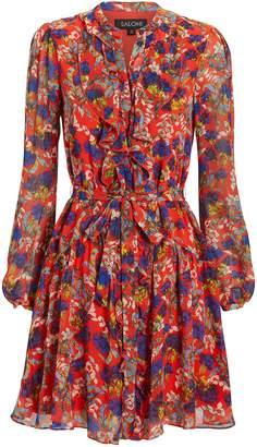 Saloni Tilly Ruffle Floral Mini Dress