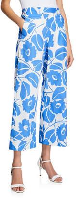 Piazza Sempione Tropical-Print Wide-Leg Pants