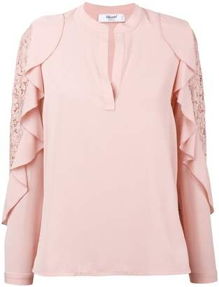 Blugirl ruffle lace trim blouse