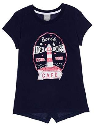 Bench Girl's Lighthouse Tee T-Shirt, (Maritime Blue Bl11213), (Size: 5-6)