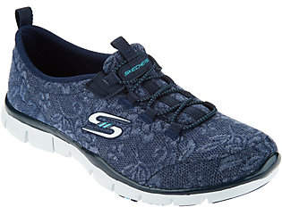 Skechers Lace Mesh Bungee Slip-Ons with MemoryFoam - Lacey