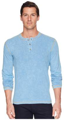 Agave Denim Freight Train Long Sleeve Three-Button Henley Men's Long Sleeve Pullover