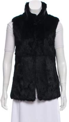 Barneys New York Barney's New York Mock Neck Fur Vest