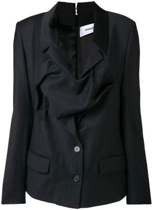 Chalayan tuck drape pinstripe blazer