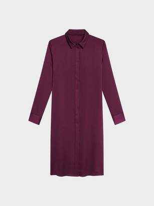 Donna Karan Donnakaran BUTTON THROUGH TUNIC Aubergine XX-Small