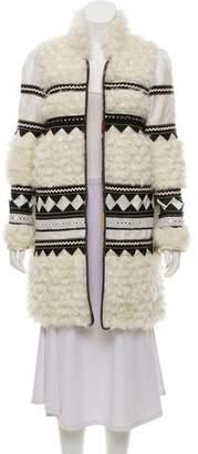 Bohemia Alix of 2017 Yeti Embellished Textured Coat