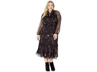 Lauren Ralph Lauren Plus Size Floral Georgette Dress
