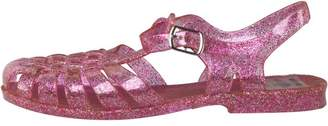 Board Angels Junior Girls Fisherman Jelly Sandals Pink/Silver Glitter