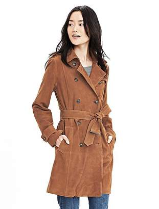 Suede Trench $698 thestylecure.com