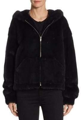 Zandra Rhodes Mink Hooded Jacket