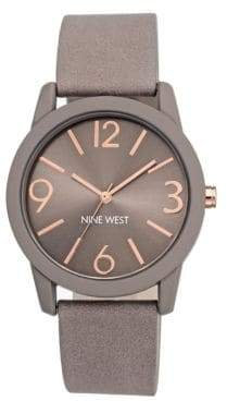Nine West Textured Strap Arabic and Bar Indicies Watch- NW-1930TPRG