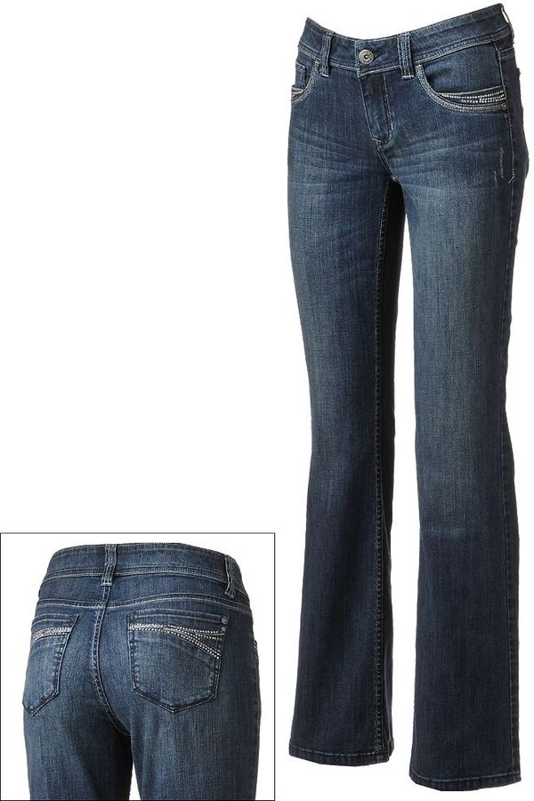 Apt. 9 modern fit distressed bootcut jeans