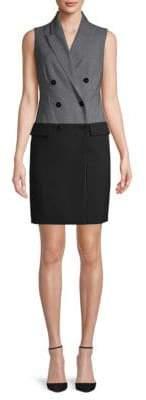 Calvin Klein Tuxedo Mini Dress