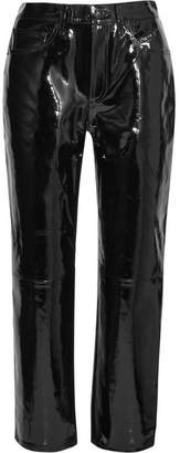 Rag & Bone Patent-leather Straight-leg Pants