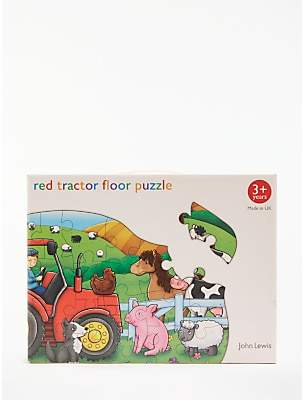 John Lewis Red Tractor Floor Jigsaw Puzzle