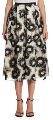 Erdem Elena Floral-Print Skirt