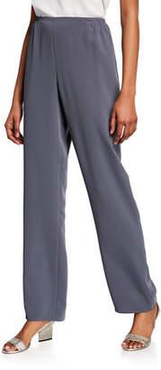 Caroline Rose Plus Size Suzette Crepe Straight-Leg Pants