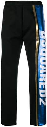 DSQUARED2 logo stripe track pants