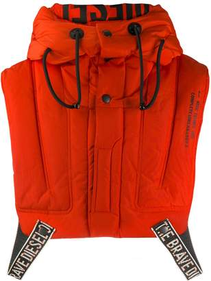 Diesel cropped lifejacket gilet