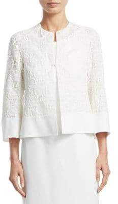 Akris Octagon Embroidered Jacket