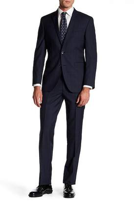 Kenneth Cole New York Trim Navy Berry Wool Suit