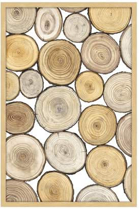 STUDY Marmont Hill Tree Ring I (Framed Print)