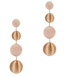Suzanna Dai Blush And Gold Gumball Drop Earrings $220 thestylecure.com