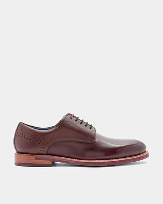 Ted Baker JHORGE Burnished leather Derby brogues