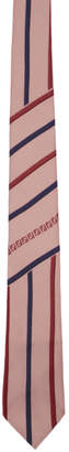 Fendi Pink Forever Stripe Tie