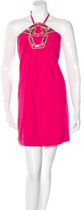 Alice by Temperley Embellished Halter Dress $75 thestylecure.com