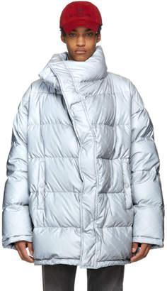Balenciaga Grey Down Profile Collar Jacket