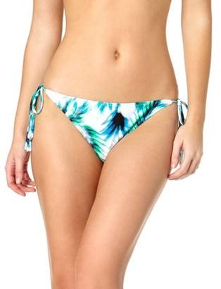 Tahiti Women's Tassel and Bead Trim Side Tie Bikini Swimsuit Bottom