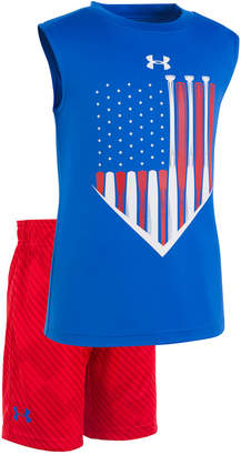 Under Armour 2-Pc. Graphic-Print Tank Top & Shorts Set, Toddler Boys