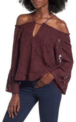 Women's Leith Off The Shoulder Applique Blouse $55 thestylecure.com