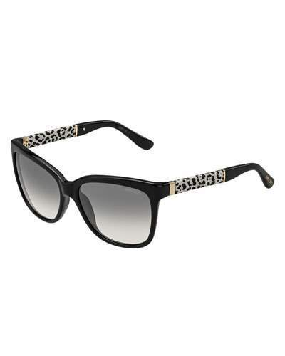Jimmy ChooJimmy Choo Cora Leopard-Print Square Sunglasses