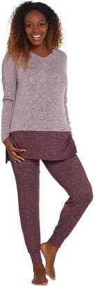 Cuddl Duds Sweater Knit Color Block Pajama Set