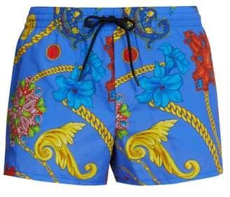 Versace Gioelleria Jetes Print Swim Shorts - Mens - Blue